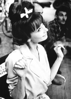 Audrey photographed by Bob Willoughby on the set of 'Paris When It Sizzles'.