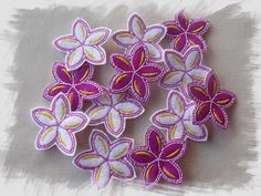 Frangipani #Felties with #Felt or #Glitter Vinyl In The Hoop Machine Embroidery Designs