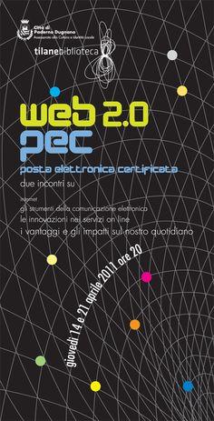 """Progettazione grafica Evento """"web 2.0"""" comune di Paderno Dugnano"""