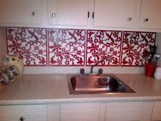 Rental Rehab: 13 Removable DIY Kitchen Backsplashes: How to Create a Backsplash Using Placemats or Room Panels