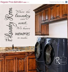 SALE Laundry Room Decal Laundry Decal 2 by RoyceLaneCreations