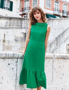 cb3f32db446 Clarice Midi Dress W0317 Day Dresses at Boden Simple Way, Dress Up, High  Neck