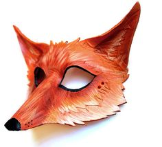 Red Fox Vulpes Vulpes  MADE TO ORDER leather mask by OakMyth