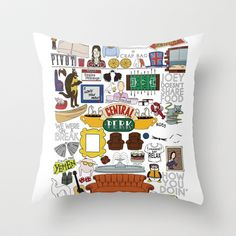 Friends TV Show Print Throw Pillow by LoverlyPhotos - $20.00