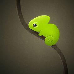 cute cartoon chameleon - Google Search