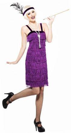 D guisement charleston bleu paillettes for Robes violettes plus la taille pour les mariages