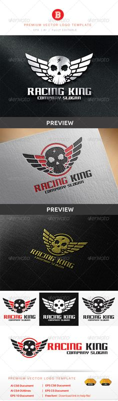Racing King — Vector EPS #social #king • Available here → https://graphicriver.net/item/racing-king/8774178?ref=pxcr