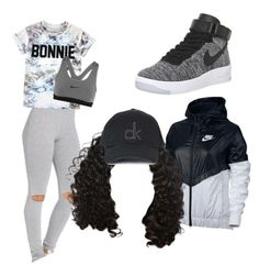 """""""Just do it"""" by ayeesavy on Polyvore featuring NIKE, ElevenParis and Topshop"""