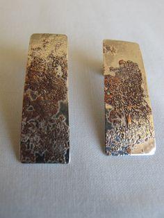 """Brincos - """"Dust"""" - Prata 925 e cobre Earrings - """"Dust"""" - Prata 925 and copper"""
