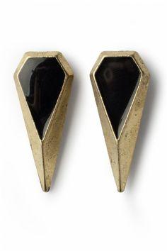 Art Deco Elongated Black Diamonds