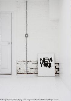 BODIE and FOU Style blog: Renovations #interior #ideas #black #white #floor #print