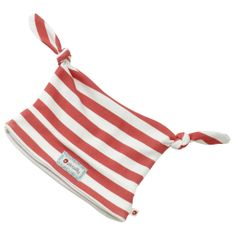Double Knot Hat - Red Stripe - available in sizes from 0-3 months up to 6-12 months - RRP £7.00