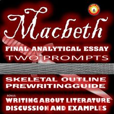 Example Of A College Essay Paper Macbeth Final Analysis Essay With Two Prompts And Prewriting Guided Outline Custom Writing Sign In also How To Write A Thesis For A Narrative Essay  Best Macbeth Lessons Activities And Classroom Resources Images  Population Essay In English