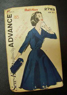 Vintage Advance Printed Pattern 2753 Uncut by momandpopcultureshop, $18.00