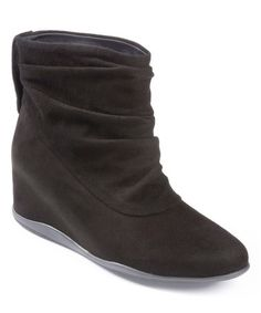 16aa36290677da Black Suede Houston Slouch Wedge Bootie  zulilyfinds Wedge Bootie