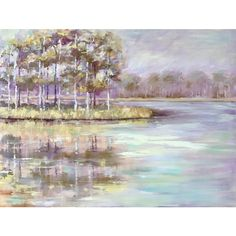 Peace Like a River Oil Painting On Canvas, Pond, Scene, River, The Originals, Mississippi, Prints, Ms, Peace