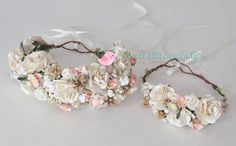 Mommy and Baby Flower Crowns Mother Baby Headbands Mother