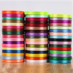 10mm Width multi colour Cloth Satin Ribbons Wedding Party Decoration Gift Craft Sewing Fabric Ribbon Cloth Tape DIY 1 yard