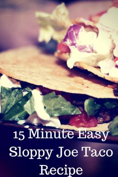 15 Minute Easy Sloppy Joe Taco Recipe #taco #recipe #sloppyjoes #manwichmondays #ad #jbbb