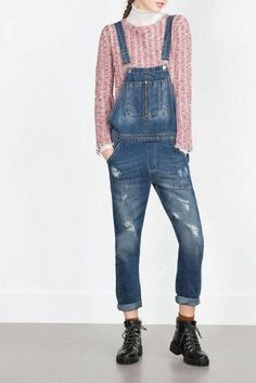 Blue Denim Washed Overall