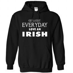 get lucky and love Irish T Shirts, Hoodies. Get it here ==► https://www.sunfrog.com/LifeStyle/get-lucky-and-love-Irish-2735-Black-28831422-Hoodie.html?41382