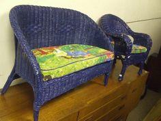 Pacific Blue Wicker. Wicker Furniture