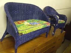 Pacific Blue Wicker. Wicker Furniture