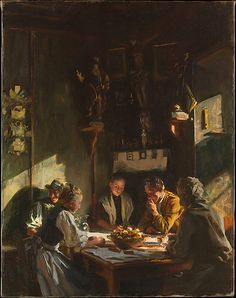 Tyrolese Interior - 28 1/8 x 22 1/16 in. oil, John Singer Sargent 1915