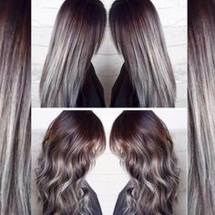 Charcoal to Icy, Silvery-Blue Color Melt