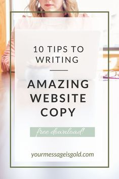 Copywriting tips and tricks of the trade. Amazing website copy doesn't have to be hard!