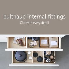 AuBergewohnlich Drawers And Pull Outs Create A Structured Interior For Storing Food,  Kitchen Utensils, Crockery, And Cutlery. Everything Comes Together To Form  An Organic ...