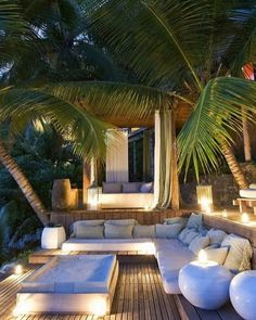 How is your backyard garden lighting going? Good weather is coming sooner than later, so you need to consider what you will do to make your backyard garden merrier. One of the crucial parts of garden design is… Continue Reading → Outdoor Areas, Outdoor Rooms, Outdoor Living, Outdoor Lounge, Tropical Garden Design, Tropical Pool, Tropical Houses, Backyard Patio Designs, Patio Ideas