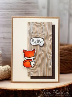 Lawn Fawn - Into the Woods, Woodgrain Backdrops _ cute card by Jean