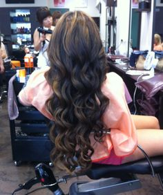 OK. So I need to learn how to make these curls and I need a new set of extensions. Thick hair, you're only a Sally's away!