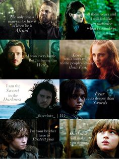 House Stark quotes *awww, Rickon* ♥ | Game of Thrones