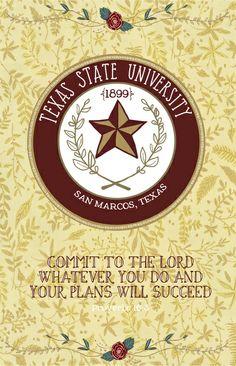 Texas State University - Succeed Seal #Art #Print #eatemupcats #texasstate #txst…                                                                                                                                                                                 More