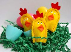 diy home sweet home Baby Chick Puppets