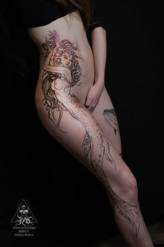 I would never get a tattoo this big (not that I have the space to anyway) but this is awesome.: