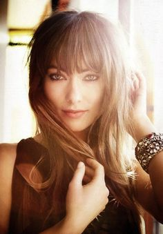 Olivia Wilde's bangs- she can do a lot of different things with hers and they are not crazy heavy