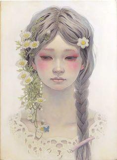 Miho Hirano - おめかし F4 Oil on canvas