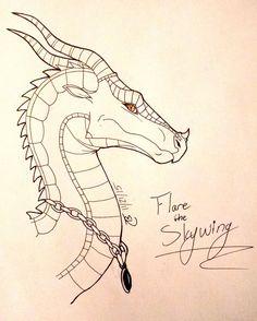 Flare the SkyWing (B-Day Gift) by Flyaway--Spudboller.deviantart.com on @DeviantArt