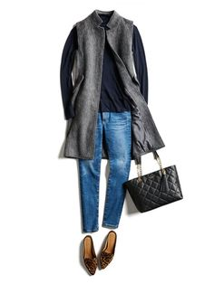 Love the long vest. Looks chic and could dress up or more casual. Stylish Winter Outfits, Fall Outfits, Casual Outfits, Cute Outfits, Amazing Outfits, Casual Jeans, Stitch Fit, Stitch Fix Fall, Stitch Fix Outfits