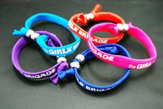 Personalised wristbands supplied to The Girls' Brigade by Impamark.
