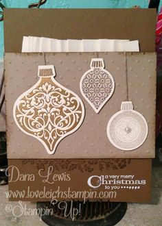 Stampin' Up! Suede Monochromatic Christmas Card