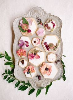 Floral Cookies - Details in entertaining for Valentine's Day