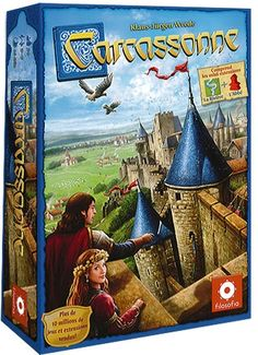 The Carcassonne is a clever tile-laying game. The southern French city of Carcassonne is famous for its unique roman and medieval fortifications. The players develop the area around Carcassonne and de. Family Game Night, Family Games, Group Games, Man Games, Games To Play, Carcassonne Board Game, Family Boards, Fun Board Games, Cards Against Humanity