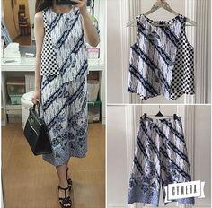 Blouse Batik, Batik Dress, Batik Kebaya, Dress Pesta, Batik Fashion, Batik Pattern, Dress Making Patterns, Simple Dresses, Traditional Outfits