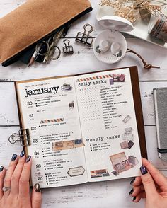 January daily tasks and weekly tasks #dailytasks #bujodaily #bujoideas #weeklytasks Bujo, Envelope Template Printable, Print Handwriting, Handwriting Practice, Cross Stitch Bookmarks, Bullet Journal Inspiration, Journal Ideas, Journal Layout, Travelers Notebook