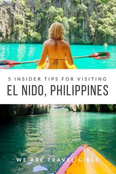 5 INSIDER TIPS FOR VISITING EL NIDO, PHILIPPINES - From forests of palm trees to towering limestone cliffs to emerald water beaches, El Nido is like a dream. Kelsey shares 5 great tips to make the most of your next trip to the gorgeous Philippines. By Kelsey Madison for http://WeAreTravelGirls.com