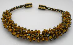 Kumihimo necklace of seed beads & crystal from Pamela Mary Designs.